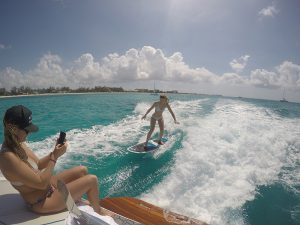 Wakesurfing in the Cayman Islands