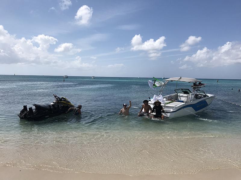 Seven Mile Beach Boat